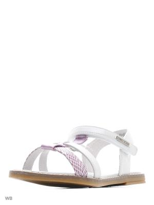 Сандалии Flamingo. Цвет: лиловый, белый