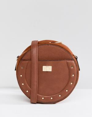 New Look Круглая сумка через плечо. Цвет: рыжий
