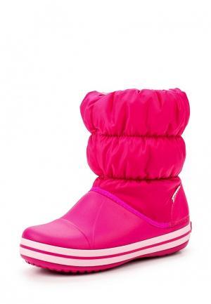 Дутики Crocs. Цвет: розовый