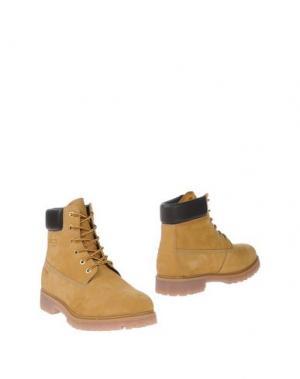 Полусапоги и высокие ботинки WEST COAST. Цвет: охра