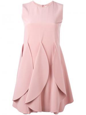 Платье с эффектом лепестков Gianluca Capannolo. Цвет: розовый и фиолетовый