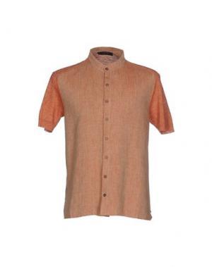 Pубашка VNECK. Цвет: ржаво-коричневый