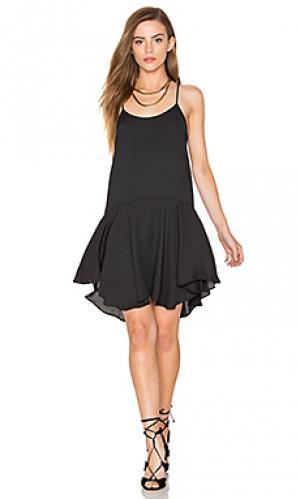Мини платье с приспущенной талией без рукавов Eight Sixty. Цвет: черный