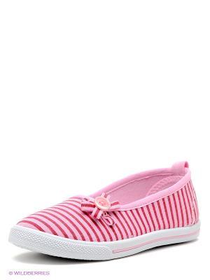 Балетки EcoTex Zebra. Цвет: розовый