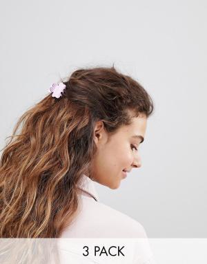 ASOS Набор из 3 заколок для волос. Цвет: мульти