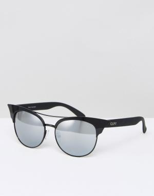 Quay Australia Солнцезащитные очки с планкой. Цвет: черный