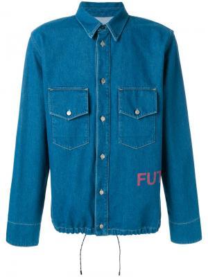 Классическая джинсовая рубашка Golden Goose Deluxe Brand. Цвет: синий