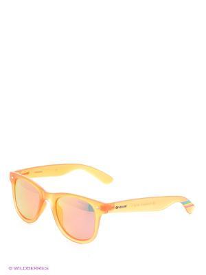Солнцезащитные очки Polaroid. Цвет: оранжевый