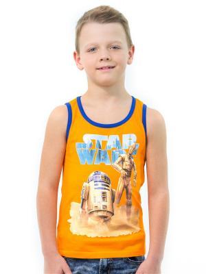 Майка Star Wars. Цвет: оранжевый
