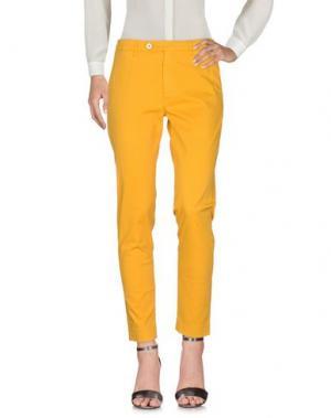 Повседневные брюки MAISON CLOCHARD. Цвет: желтый