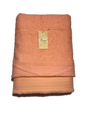 Комплект полотенец Бордюр, 2 предмета. La Pastel. Цвет: светло-коралловый