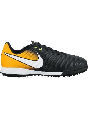 Бутсы JR TIEMPOX LIGERA IV TF Nike. Цвет: черный, белый