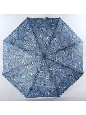 Зонт Trust. Цвет: синий, коричневый, серый