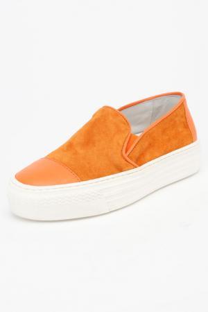 Кеды Bouton. Цвет: оранжевый