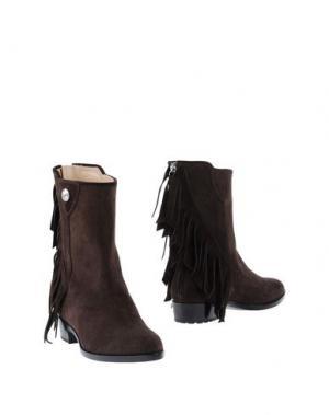 Полусапоги и высокие ботинки VICINI TAPEET. Цвет: темно-коричневый