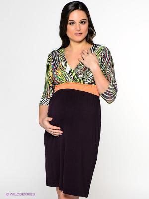 Платье UNIOSTAR. Цвет: сливовый, оранжевый, зеленый