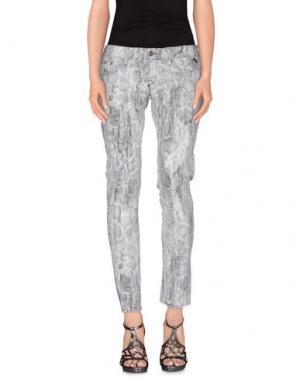Джинсовые брюки RA-RE. Цвет: светло-серый
