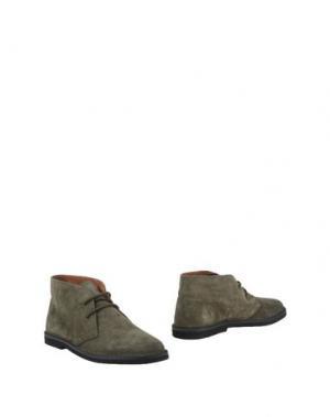 Полусапоги и высокие ботинки CANTARELLI. Цвет: зеленый-милитари