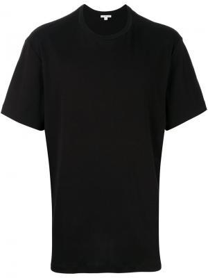 Удлиненная футболка James Perse. Цвет: чёрный