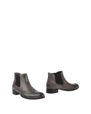 Полусапоги и высокие ботинки CALPIERRE. Цвет: голубиный серый