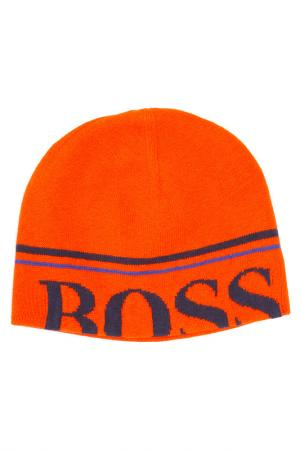 Шапка BOSS. Цвет: оранжевый