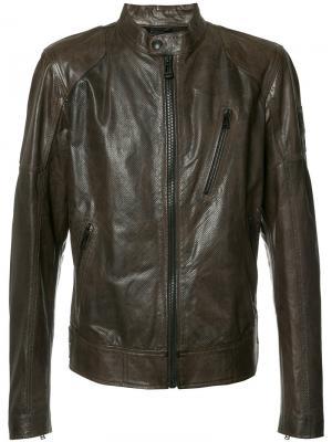 Куртка с воротником-стойка Belstaff. Цвет: коричневый