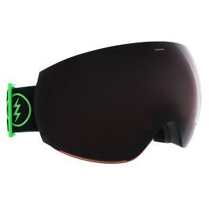 Маска для сноуборда  Eg3 Hunter Green+Black/Brose Electric. Цвет: зеленый