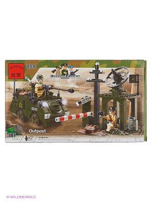 Конструктор пластиковый Военная техника ENLIGHTEN. Цвет: темно-зеленый, серый