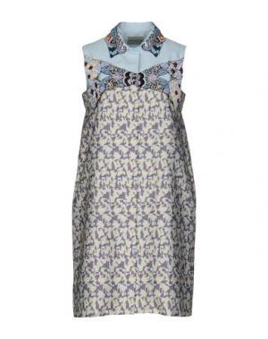 Короткое платье MARY KATRANTZOU. Цвет: светло-желтый