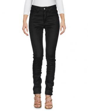 Джинсовые брюки SHAFT. Цвет: темно-коричневый