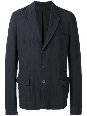 Блейзер с накладными карманами Haider Ackermann. Цвет: синий
