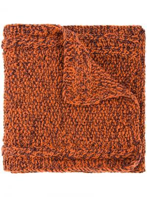 Lyudmila scarf 711. Цвет: жёлтый и оранжевый