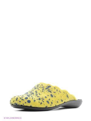 Тапочки Inblu. Цвет: желтый