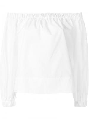Блузка с открытыми плечами YMC. Цвет: белый
