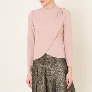 Блузка с драпировкой SISTER JANE. Цвет: телесный