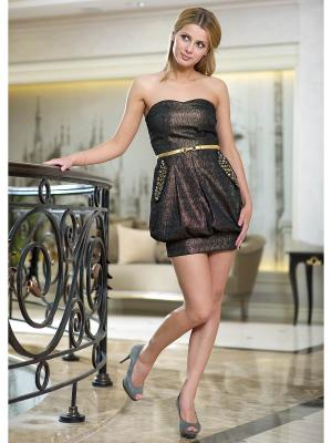 Платье Ally's. Цвет: бронзовый