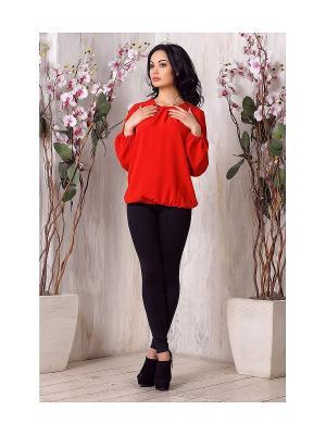 Блуза LIORA. Цвет: красный