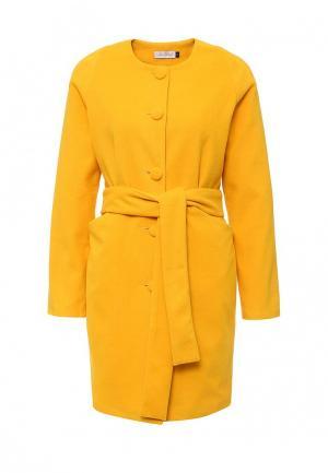 Пальто LAMANIA. Цвет: желтый