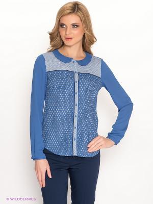 Блузка Pompa. Цвет: синий