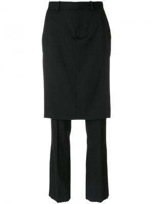 Классические брюки с юбкой Givenchy. Цвет: чёрный