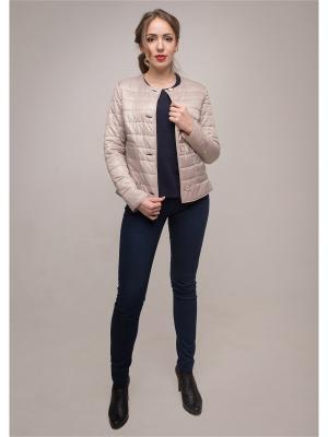 Куртка Кармен Versia. Цвет: бежевый