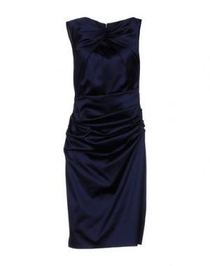 Платье до колена TALBOT RUNHOF. Цвет: темно-синий