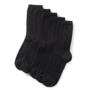 Комплект из 5 пар однотонных коротких носков La Redoute Collections. Цвет: черный