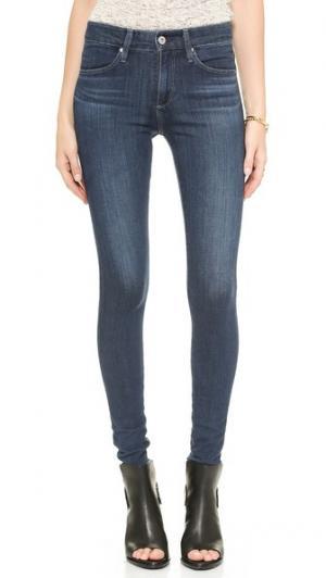 Плотно облегающие джинсы-скинни Farrah от 360 AG. Цвет: кратер