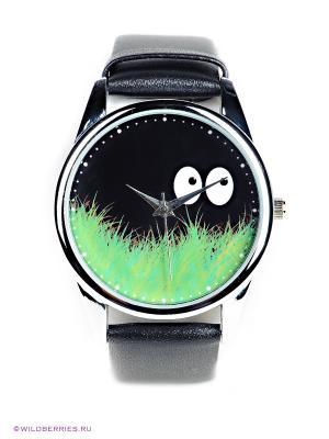 Часы Mitya Veselkov. Цвет: черный, зеленый
