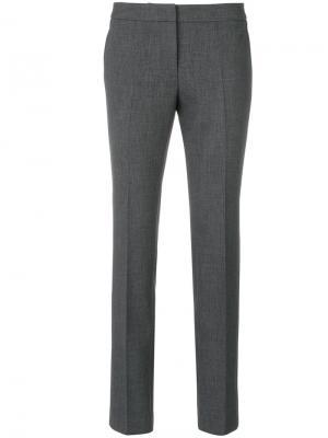 Строгие брюки слим Alberto Biani. Цвет: серый