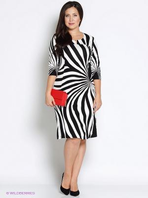 Платье Битис. Цвет: черный, белый