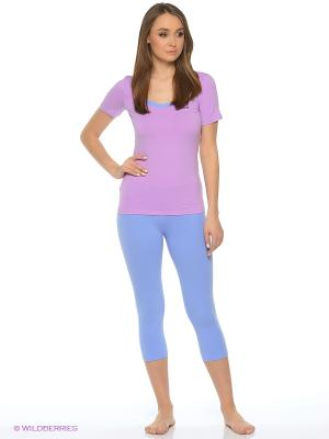 Пижама Lui et Elle. Цвет: сиреневый, голубой