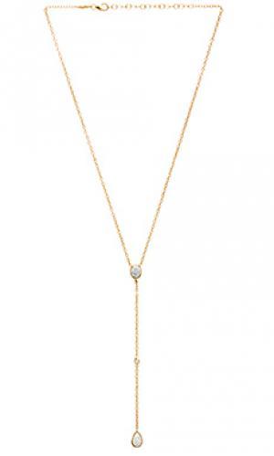 Ожерелье с опалом Jacquie Aiche. Цвет: металлический золотой