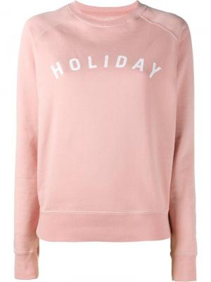 Толстовка с принтом логотипа Holiday. Цвет: розовый и фиолетовый